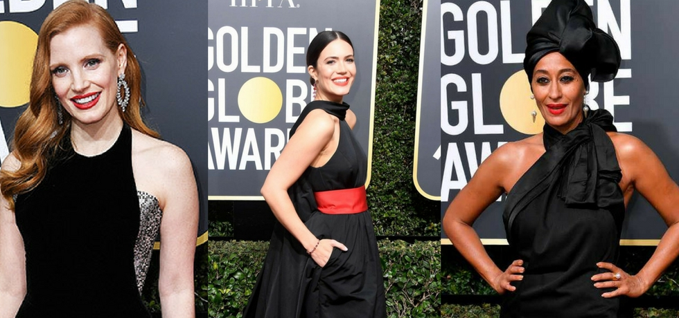 celebrity beauty trends at the golden globe awrads