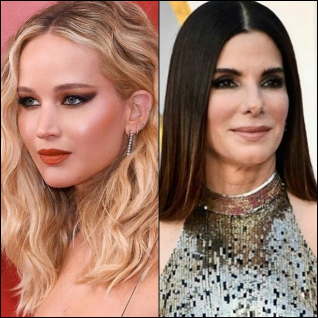 jennifer lawrence makeup sandra bullock